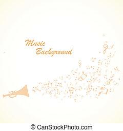 música, fundo, vetorial
