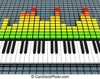 música, gravando