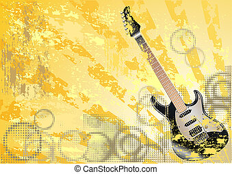 música, grunge, fundo