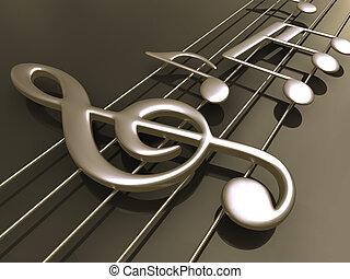 música hoja, 3d