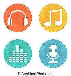música, iconos