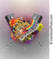 música, ilusão