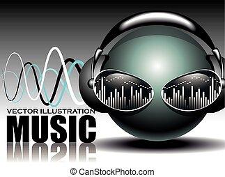 música, ilustración