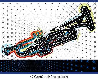 música instrumento, ilustração