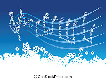 música, inverno