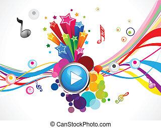 música, jogo, coloridos, abstratos