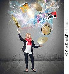 música, malabarista