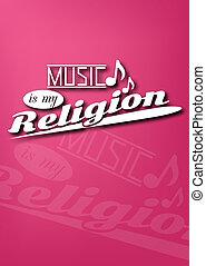 música, mi, religión