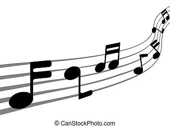 música nota, (vector)