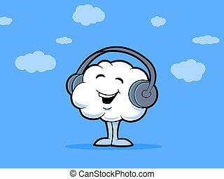 música, nuvem