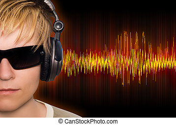 música, ondas