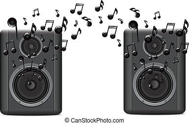 música, oradores, melody2