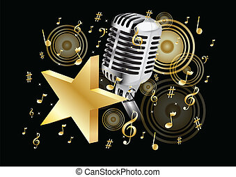 música, ouro