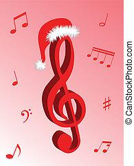 música, para, natal