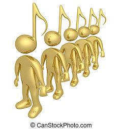 música, pessoas