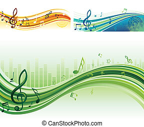 música, plano de fondo