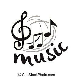 música, pretas, nota música, fundo, vetorial, imagem