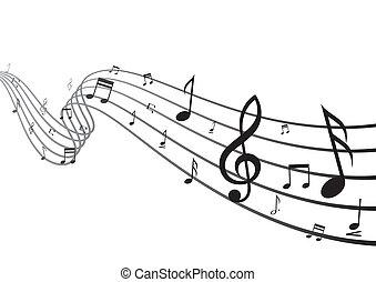 música, projete elemento