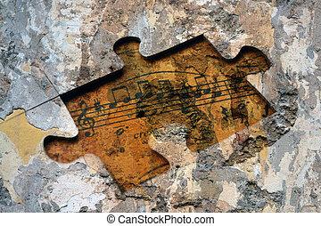 música, quebra-cabeça