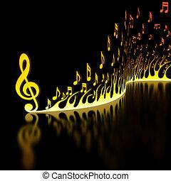 música, rápido