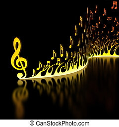 música, rapidamente