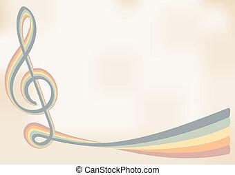música, retro, fundo