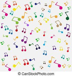 música, seamless, fundo