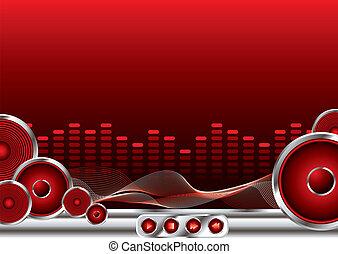 música, som