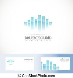 música, sonido, volumen, logotipo
