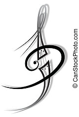 música, tatuagem