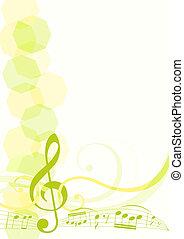 música, tema, fundo