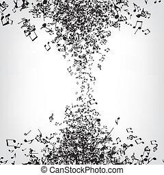 música, textura, notas