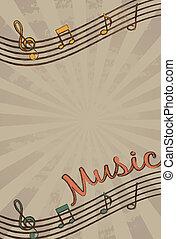 música, vector
