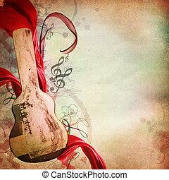 música, vindima, fundo