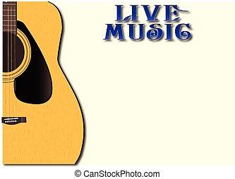 música viva, fundo
