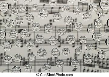 música, waterdrops