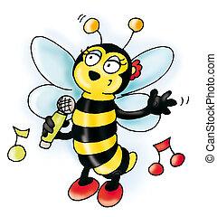 músico, abeja
