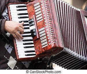 músico, calle