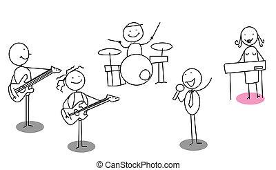 músico, equipe