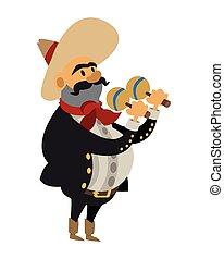 músico, mariachi, ícone