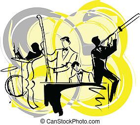 músicos, ilustración