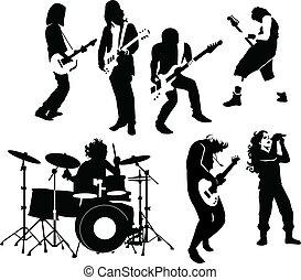 músicos, roca