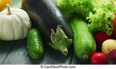mûre, frais, abondance, légumes
