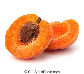 mûre, fruit, abricot