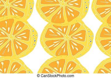 mûre, jus, pattern., seamless, main, exotique, arrière-plan., vecteur, dessiné, fruits.