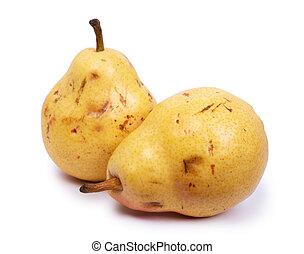 mûre, poires, naturel, défectueux