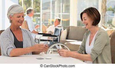 mûrir, cartes, leur, quoique, maris, conversation, femmes, ...