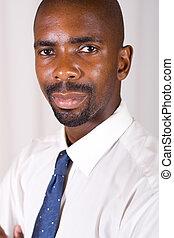 mądry, afrykański człowiek
