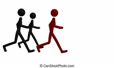 mężczyźni, biegi, wtykać
