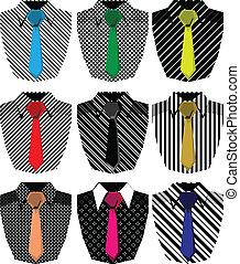 mężczyźni, koszula, ilustracja